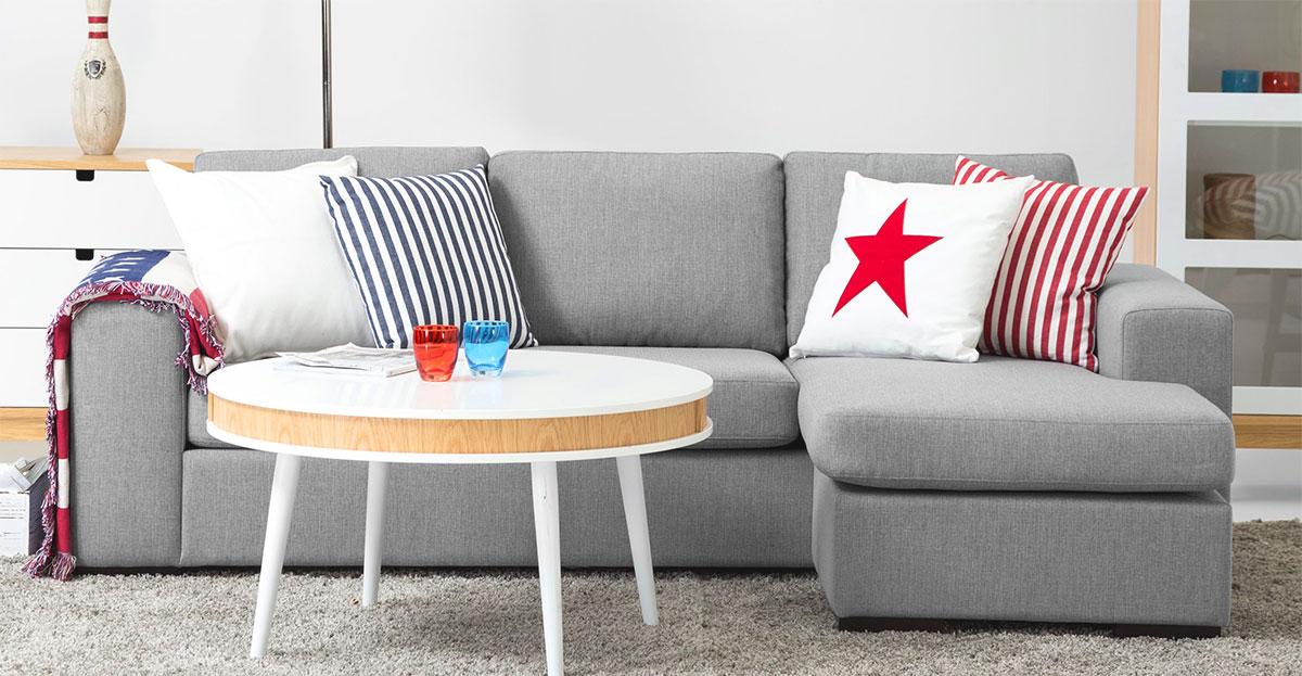 Billig soffa med divan